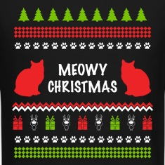 Meowy Christmas Funny Ugly Sweater For Cat Lovers Long Sleeve Shirts
