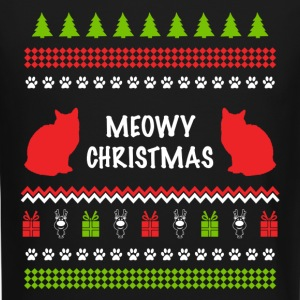 Meowy Christmas Funny Ugly Sweater For Cat Lovers Long Sleeve Shirts - Crewneck Sweatshirt