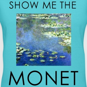 show me the monet 1 Women's T-Shirts - Women's V-Neck T-Shirt