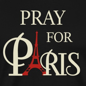 Pray For Paris Eiffel Tower Shirt - Men's Premium T-Shirt