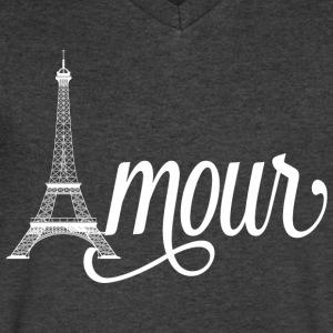 amour paris - love in french T-Shirts - Men's V-Neck T-Shirt by Canvas
