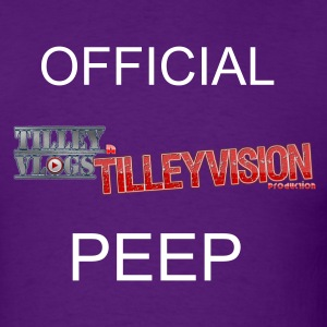Purple TilleyVlogs Logo Shirt w/Peep - Men's T-Shirt