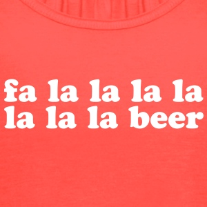 Fa La La Beer Christmas Song - Women's Flowy Tank Top by Bella