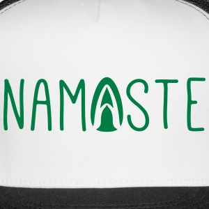 namaste yoga greeting Caps - Trucker Cap
