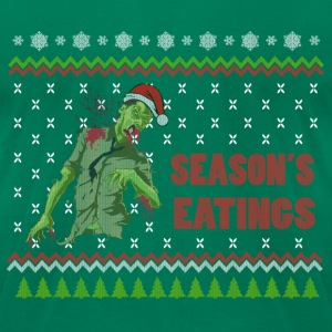 Zombie Season's Eatings Funny Ugly Sweater T-Shirts - Men's T-Shirt by American Apparel