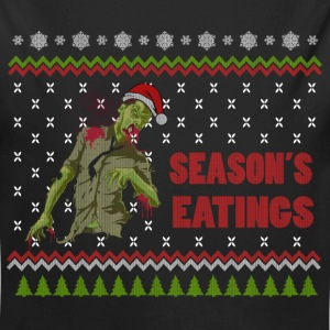 Zombie Season's Eatings Funny Ugly Sweater Baby Bodysuits - Long Sleeve Baby Bodysuit