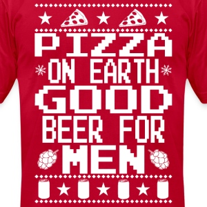 Pizza On Earth Ugly Shirt T-Shirts - Men's T-Shirt by American Apparel