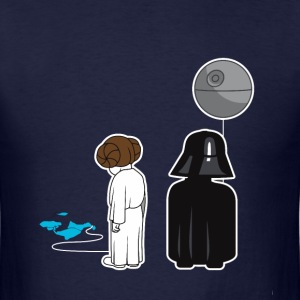 Funny Star Wars Leia and Darth Vader as kids - Men's T-Shirt