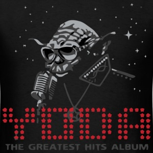 Star Wars Yoda loves music - Men's T-Shirt
