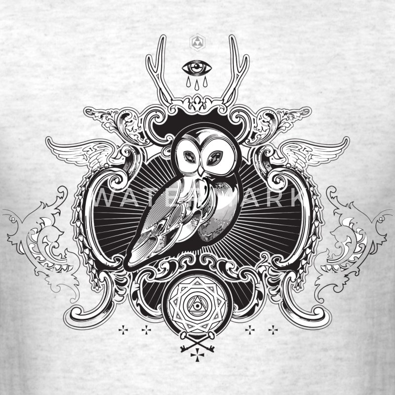 Cool illuminati owl and eye - Men's T-Shirt