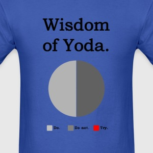 Funny Star Wars wisdom of Yoda - Men's T-Shirt