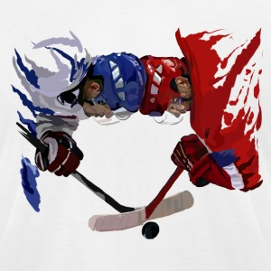 Eishockey face off T-Shirts - Men's T-Shirt by American Apparel