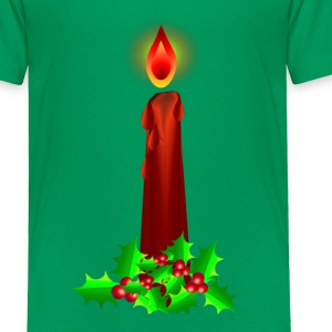 Red Christmas Candle  - Toddler Premium T-Shirt