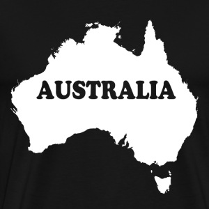 Australia Map T-Shirts - Men's Premium T-Shirt