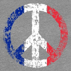 Vintage France Flag Peace Sign T-shirt