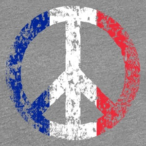 Vintage France Flag Peace Sign T-shirt - Women's Premium T-Shirt