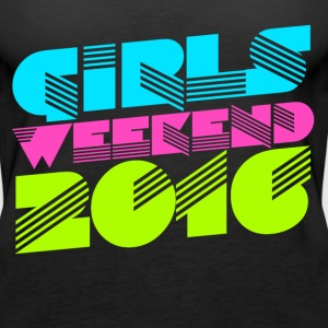 Retro Girl's Weekend 2016 bachelorette party  - Women's Premium Tank Top