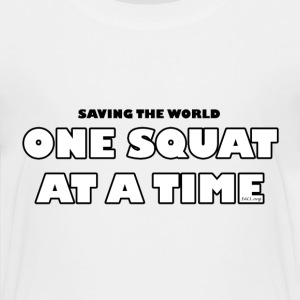 One Squat At A Time (kids) - Kids' Premium T-Shirt