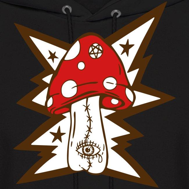 Psychedelic Mushroom - Black Hoodie