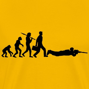 Evolution shoot man sniper soldier sniper gamer ca T-Shirts - Men's Premium T-Shirt