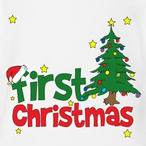 First Christmas Baby Bodysuits - Short Sleeve Baby Bodysuit