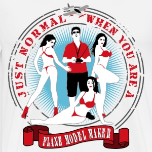 just_normal_when_you_are_a_plane_modelma T-Shirts - Men's Premium T-Shirt