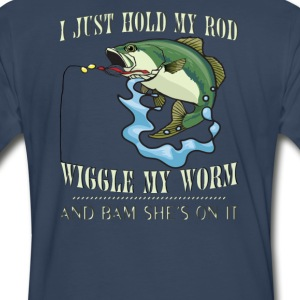 WIGGLE MY WORM - Men's Premium T-Shirt