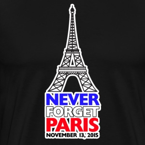 Never Forget Paris Men's Premium T-Shirt - Men's Premium T-Shirt