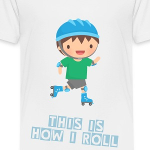 Cute Roller Skating Boy Kids' Shirts - Kids' Premium T-Shirt
