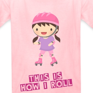 Cute Roller Skater Girl Kids' Shirts - Kids' T-Shirt