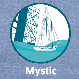 Mystic CT Drawbridge Men's Tri Tee Shirt - Unisex Tri-Blend T-Shirt by American Apparel