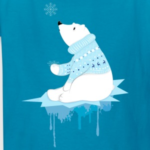 Polar bear with snowflakes Kids' Shirts - Kids' T-Shirt
