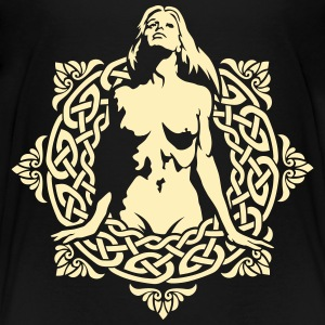 Naked girl on the of the celtic patterns Kids' Shirts - Kids' Premium T-Shirt