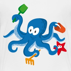 octopus cartoon Kids' Shirts - Kids' Premium T-Shirt