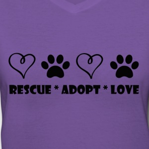 Adopt - Women's V-Neck T-Shirt