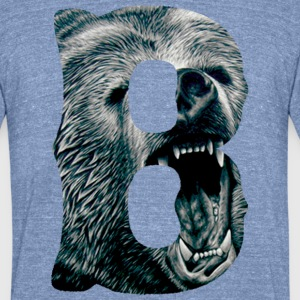 A Big Bruin B T-Shirts - Unisex Tri-Blend T-Shirt by American Apparel