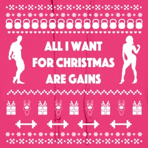 All I Want For Christmas Are Gains Ugly Sweater Hoodies - Women's Hoodie