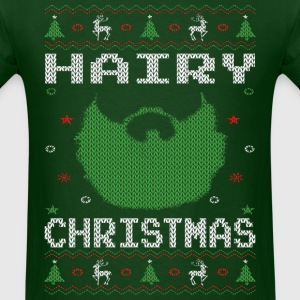 Hairy Christmas Beard T-Shirts - Men's T-Shirt