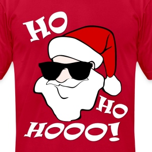 Awesome Santa Ho Ho Hooo! - Men's T-Shirt by American Apparel