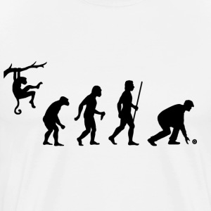 Evolution of Lawn Bowls T Shirt - Men's Premium T-Shirt
