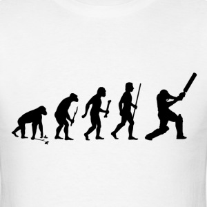 Evolution of Man and Cricket - Men's T-Shirt