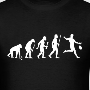Evolution of Man and Football - Men's T-Shirt