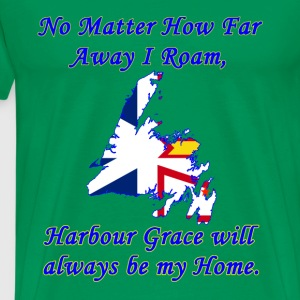 No Matter How Far Away I Roam, Harbour Grace  - Men's Premium T-Shirt