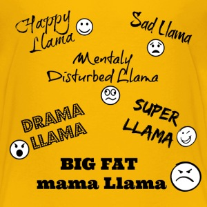 Happy Llama, Sad Llama...... - Kids' Premium T-Shirt