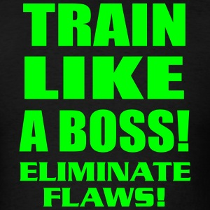 Train Like a Boss Neon - Men's T-Shirt