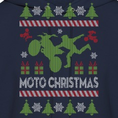 Motocross Ugly Christmas Hoodies