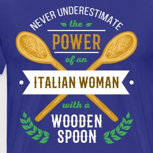 Italian woman with a wooden spoon T-shirt T-Shirts - Men's Premium T-Shirt