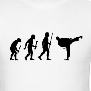 Evolution of Karate - Men's T-Shirt
