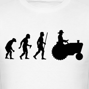 Evolution of Man Farmer - Men's T-Shirt