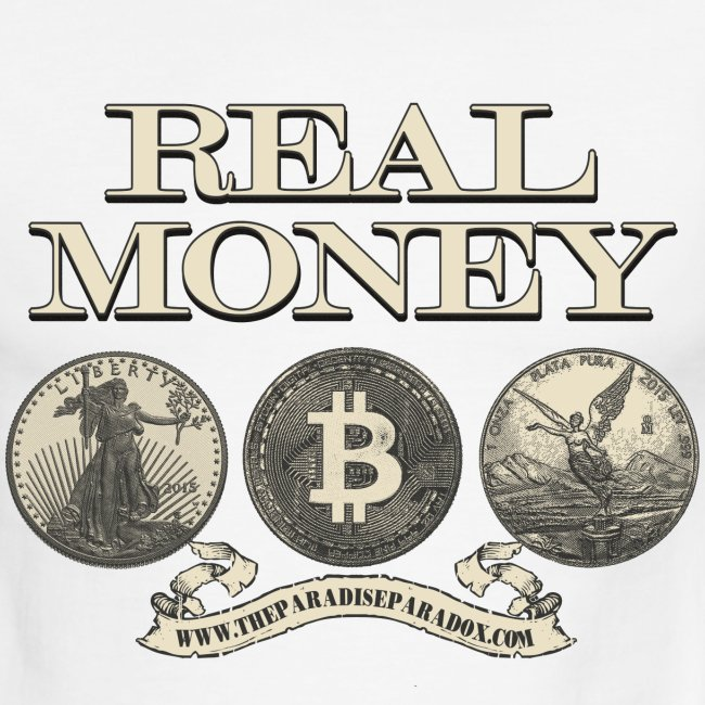 Real Money men's ringer tee